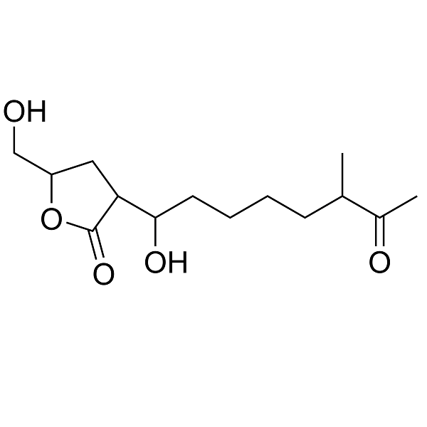 2-(1-hydroxy-6-methyl-7-oxooctyl)-4-hydroxymethylbutanolide